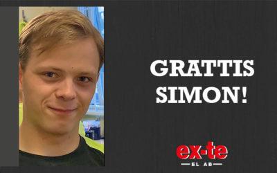 Grattis Simon!