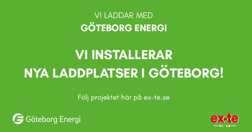 500 nya laddplatser i Göteborg