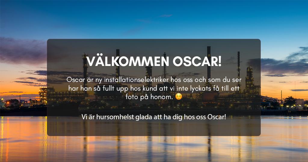 Välkommen Oscar!