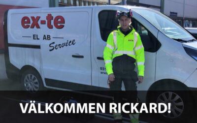 Välkommen Rickard!