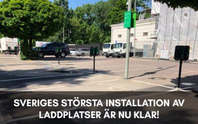 Sveriges största installation av laddstolpar är klar!